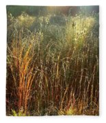 Magical Light On The Marsh Fleece Blanket