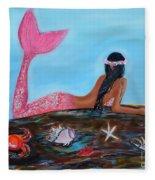 Magical Mystic Mermaid Fleece Blanket