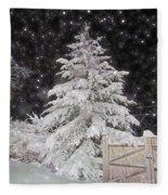 Magical Nighttime Snow Fleece Blanket