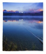 Magical Sunrise Along Sawtooth Mountain Range Stanley Idaho Fleece Blanket