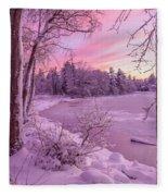 Magical Sunset After Snow Storm 1 Fleece Blanket