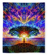 Magical Tree And Sun 2 Fleece Blanket
