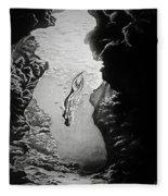Magical Underwater Cave Fleece Blanket
