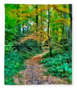 Magical Woodland Walk Fleece Blanket