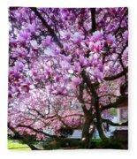 Magnificant Magnolias Fleece Blanket