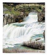 Magnificence Of Shoshone Falls Fleece Blanket