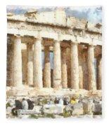 Magnificent Acropolis In Athens Fleece Blanket