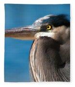 Magnificent Blue Heron Fleece Blanket