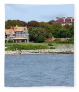Magnificent Homes Along Cliff Walk Fleece Blanket