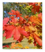 Magnificent Maple Leaves Fleece Blanket
