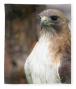 Magnificent Red-tailed Hawk  Fleece Blanket