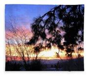 Magnificent Winter Sky Fleece Blanket