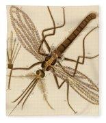 Magnified Mosquito Fleece Blanket