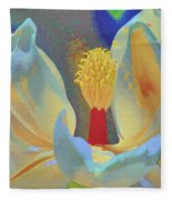 Magnolia Abstract Fleece Blanket