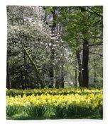 Magnolia And Daffodils Fleece Blanket
