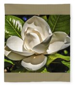 Magnolia Blossom 4 Fleece Blanket