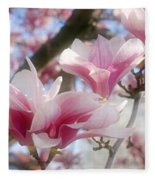 Magnolia Blossoms Fleece Blanket