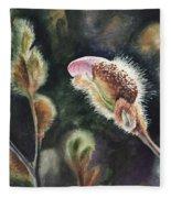 Magnolia Bud By Irina Sztukowski  Fleece Blanket