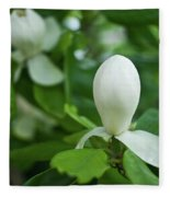 Magnolia Bud Fleece Blanket