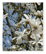 Magnolia Flowers White Magnolia Tree Flowers Art Prints Fleece Blanket
