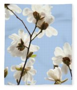 Magnolia Flowers White Magnolia Tree Flowers Art Spring Baslee Troutman Fleece Blanket