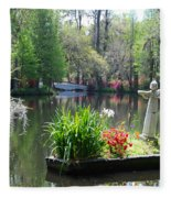 Magnolia Gardens In Charleston Fleece Blanket