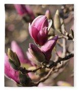Magnolia In Bloom Fleece Blanket