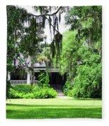Magnolia Plantation Back Entrance Fleece Blanket