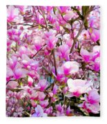 Magnolia Tree Beauty #1 Fleece Blanket