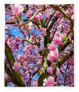 Magnolia Tree Beauty #3 Fleece Blanket
