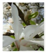 Magnolia Tree Flowers Art Prints White Magnolia Flower Fleece Blanket