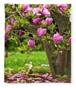 Magnolia Tree Fleece Blanket