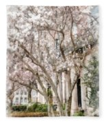Magnolias In Back Bay Fleece Blanket