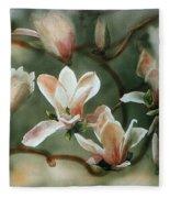 Magnolias In Bloom Fleece Blanket