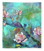 Magnolias Fleece Blanket