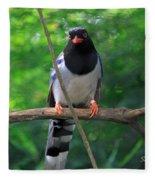Magpie I Fleece Blanket