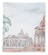 Mahakaleshwar Jyotirlinga Fleece Blanket