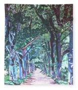Mahogany Avenue Fleece Blanket