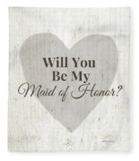 Maid Of Honor Rustic- Art By Linda Woods Fleece Blanket