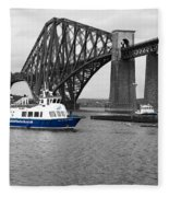 Maid Of The Forth In Blue. Fleece Blanket