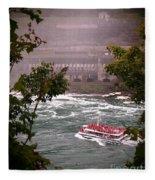 Maid Of The Mist Canadian Boat Fleece Blanket