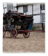 Mail Coach At Lacock Fleece Blanket by Paul Gulliver