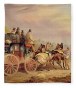 Mail Coaches On The Road - The 'quicksilver'  Fleece Blanket