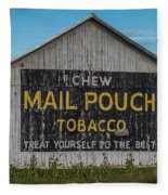 Mail Pouch Tobacco Barn Fleece Blanket