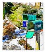 Mailbox Fleece Blanket