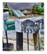 Mailboxes Fleece Blanket