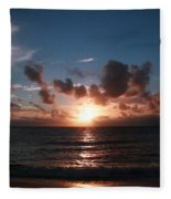Ma'ili Sunset Fleece Blanket