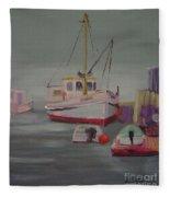 Main Boat 1 Fleece Blanket