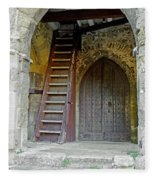 Main Entrance To St Mary's Church At Brading Fleece Blanket
