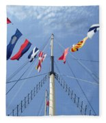 Main Mast Of Ss Great Britain At Bristol England Fleece Blanket